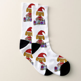 Christmas funny dog socks 1