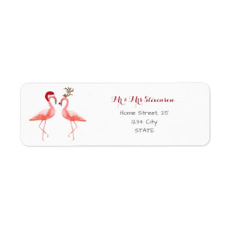 Christmas funny flamingos personalized
