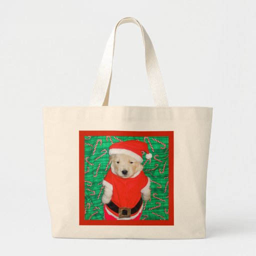 Christmas Funny Santa Puppy Gift Items Canvas Bags