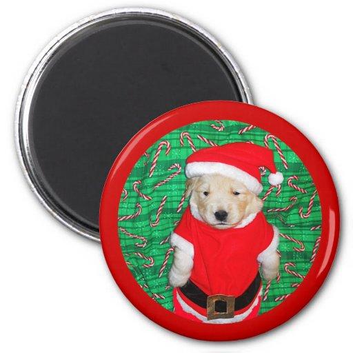 Christmas Funny Santa Puppy Gift Items Fridge Magnet