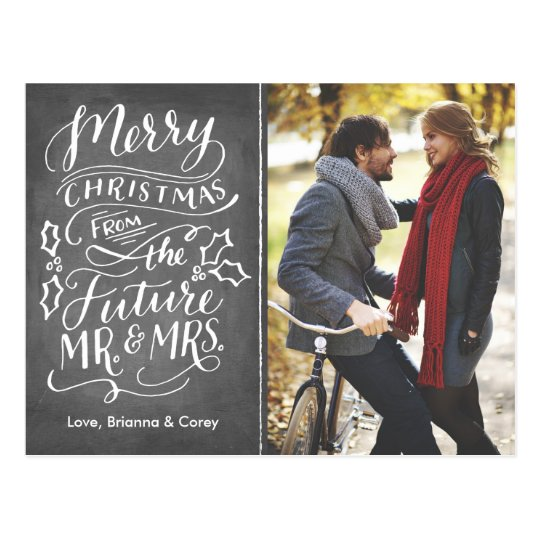Christmas Future Mr. and Mrs. Photo Save The