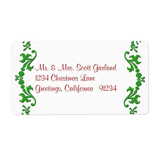 Christmas Garland Address Labels