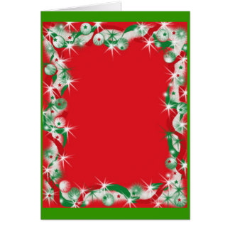 Christmas Garland Border Greeting Card