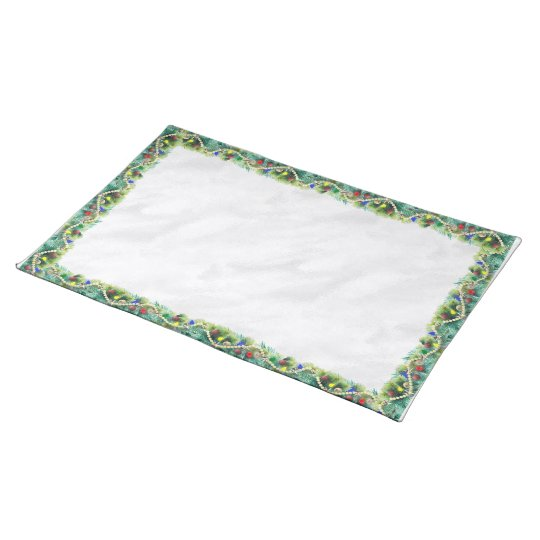 Christmas Garland Cotton Placemat