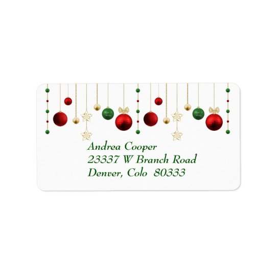 Christmas Garland on White Label