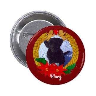 Christmas Garland Photo Button
