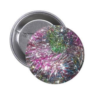 Christmas Garland Sparkle 6 Cm Round Badge