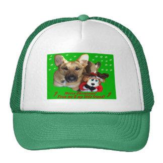 Christmas German Shepherd & Toy Reindeer Cap