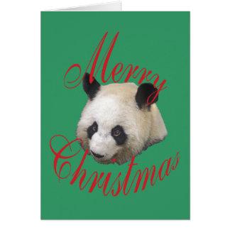 Christmas Giant Panda Greeting Card