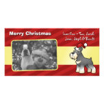 Christmas Giant/Standard/Miniature Schnauzer Customised Photo Card