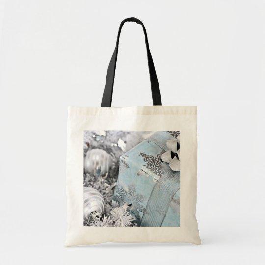 Christmas gift box tote bag