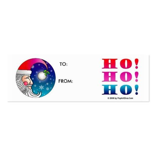 Christmas Gift Cards - Santa Moon Ho Ho Ho! Business Card Templates