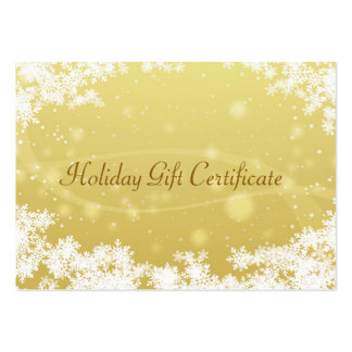 Christmas gift certificate business card template