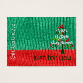 Christmas Gift Certificate | Just For You Holiday