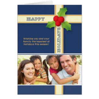 Christmas Gift Custom Family Holiday Card navy