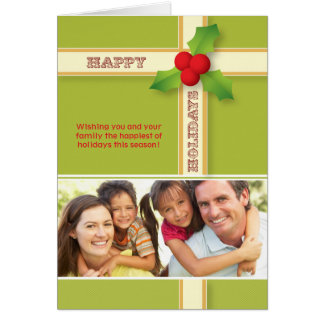 Christmas Gift Custom Family Holiday Card olive