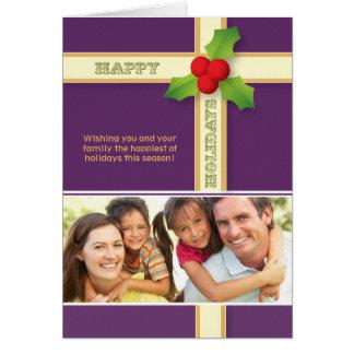 Christmas Gift Custom Family Holiday Card purple