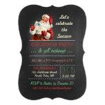 Christmas Gift Exchange Vintage Santa Chalkboard 13 Cm X 18 Cm Invitation Card