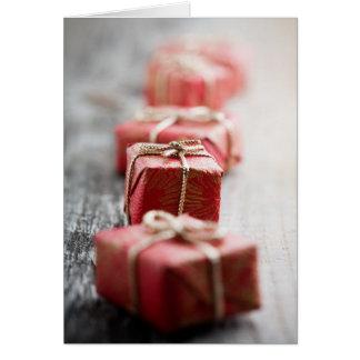 Christmas gift folded card