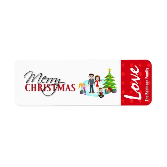 Christmas Gift Label Stickers Return Address Label