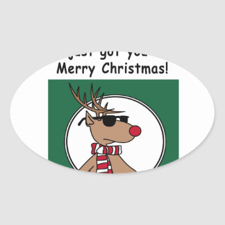 Christmas Gift Oval Sticker