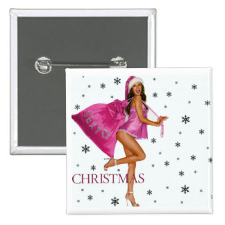 CHRISTMAS GIFT PERSONALIZE IT HOLIDAYS 15 CM SQUARE BADGE