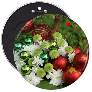 CHRISTMAS GIFT PERSONALIZE IT HOLIDAYS 6 CM ROUND BADGE