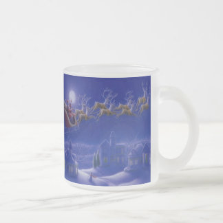 CHRISTMAS GIFT PERSONALIZE IT HOLIDAYS FROSTED GLASS MUG