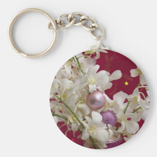 CHRISTMAS GIFT PERSONALIZE IT HOLIDAYS BASIC ROUND BUTTON KEY RING