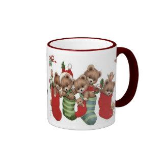 CHRISTMAS GIFT PERSONALIZE IT HOLIDAYS RINGER MUG
