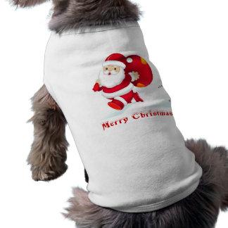 CHRISTMAS GIFT PERSONALIZE IT HOLIDAYS SLEEVELESS DOG SHIRT