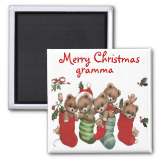 CHRISTMAS GIFT PERSONALIZE IT HOLIDAYS SQUARE MAGNET