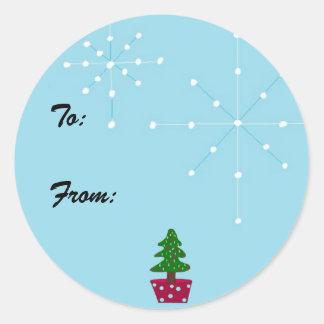 Christmas Gift Seal Round Sticker