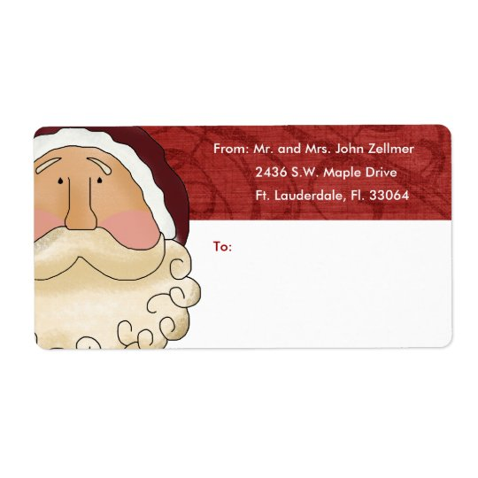Christmas Gift Shipping Labels