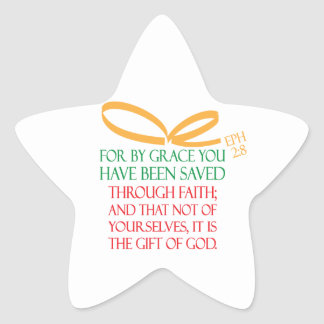Christmas Gift Star Sticker