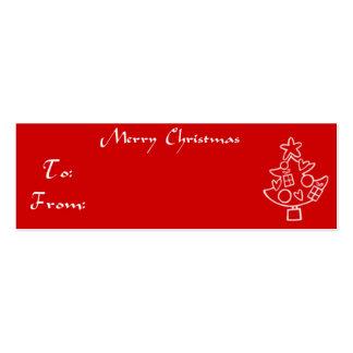 Christmas Gift Tag Christmas Tree Business Cards