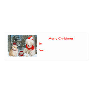 Christmas Gift Tag Pack Of Skinny Business Cards
