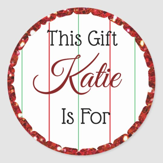 Christmas Gift Tag Personalised