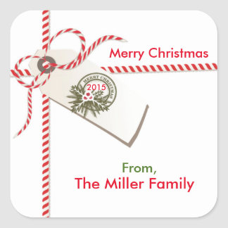 Christmas Gift Tag Sticker Labels
