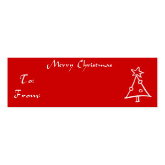 Christmas Gift Tag Tree Business Card Template