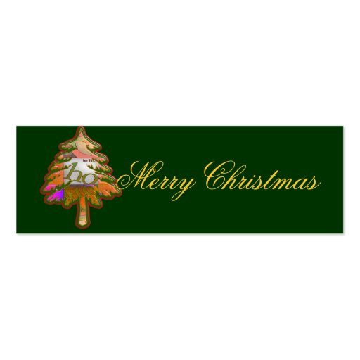 Christmas gift tag: tree business card template