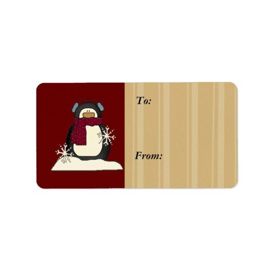 Christmas Gift Tags Address Label
