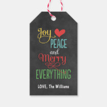 Christmas Gift Tags   Chalkboard Design Pack Of Gift Tags