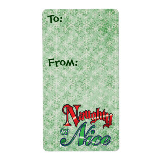 Christmas Gift Tags - Large Shipping Label