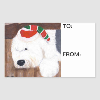 Christmas Gift Tags - Old English Sheepdog
