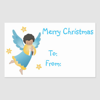 Christmas Gift Tags/Rectangle Stickers/Angel Rectangular Sticker