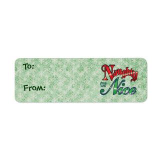 Christmas Gift Tags - Small Return Address Label