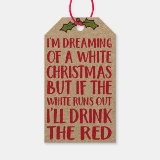 Christmas Gift Tags - Wine Hanging Labels
