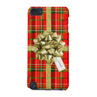 Christmas Gift Wrapped in Red Tartan and Ribbons iPod Touch (5th Generation) Case