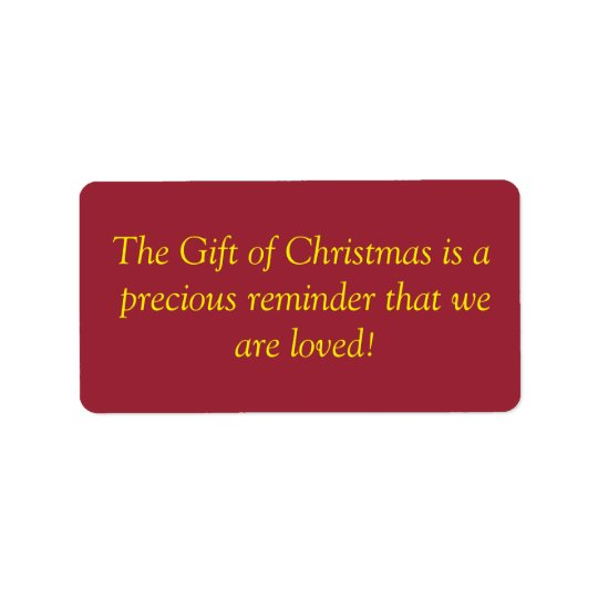 Christmas GiftLabels Label